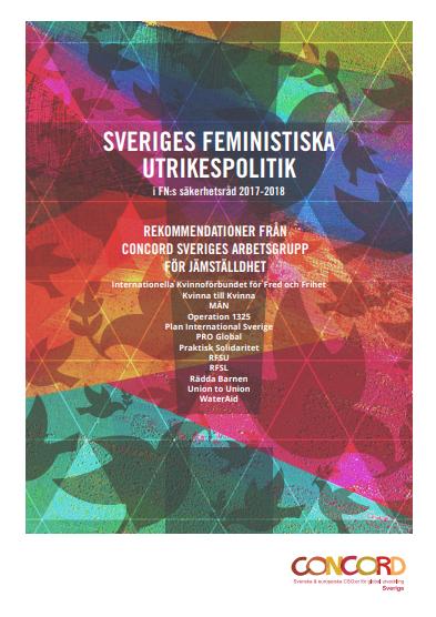 Rekommendationer om Sveriges feministiska utrikespolitik i FN:s säkerhetsråd