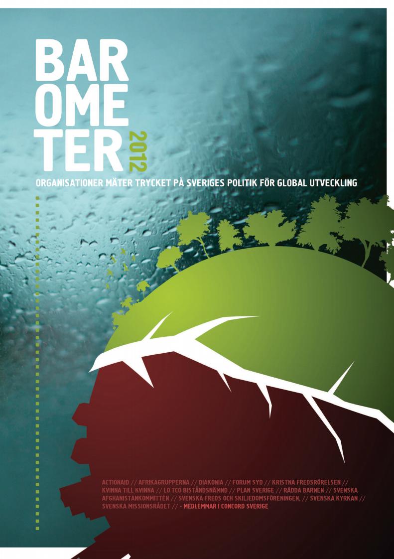 Barometer 2012, organisationer mäter trycket på Sveriges politik för global utveckling