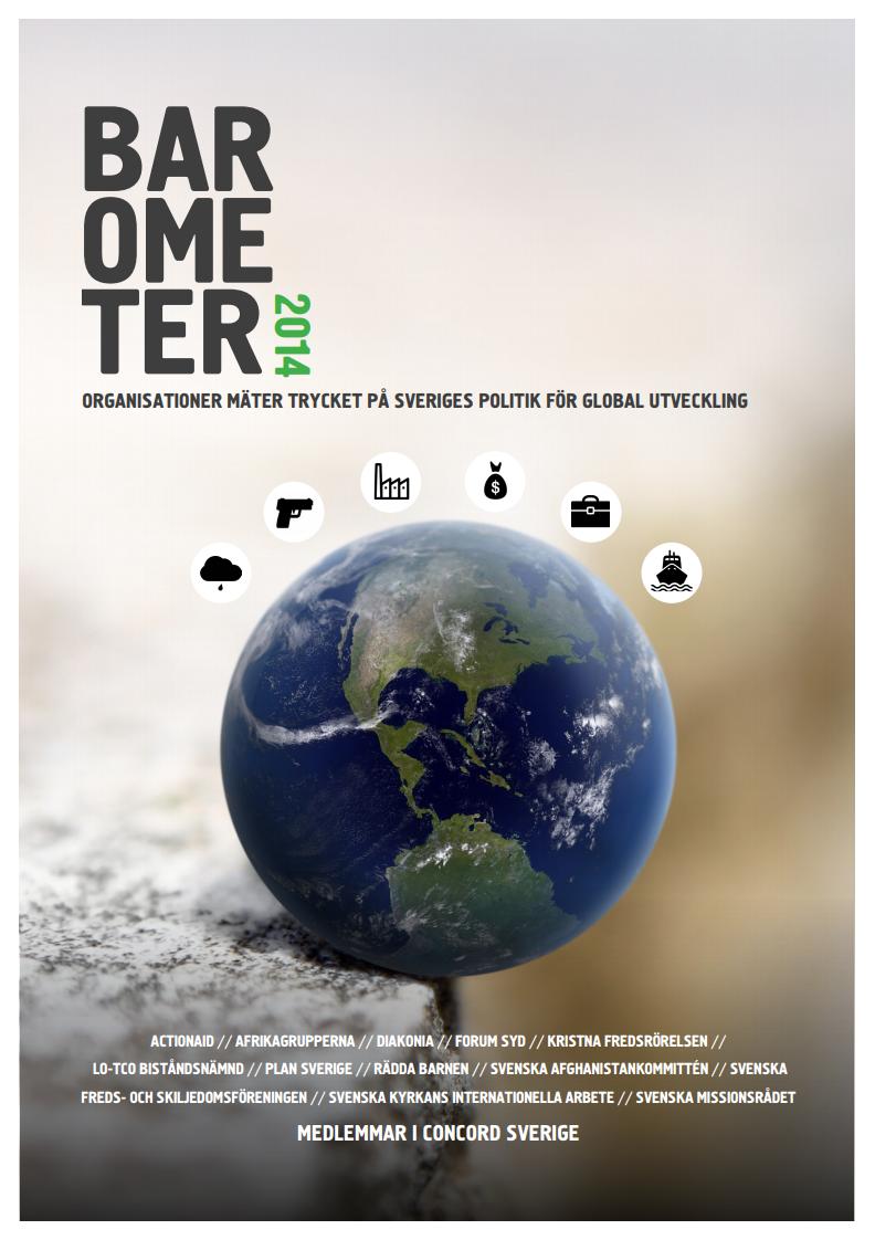 Barometer 2014, organisationer mäter trycket på Sveriges politik för global utveckling