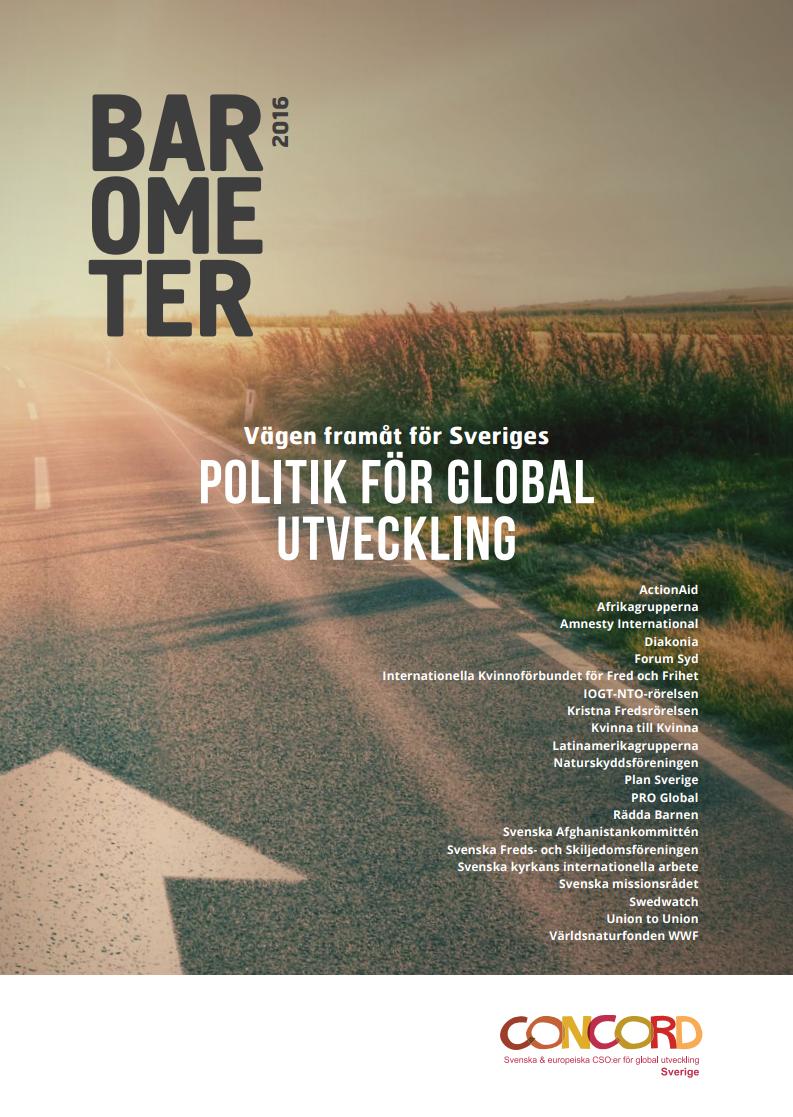 Barometer 2016, vägen framåt för Sveriges politik för global utveckling