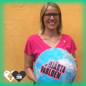 Kristina Yngwe, Centerpartiet, hjärtar världen