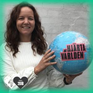 Yasmine Posio Nilsson, Vänsterpartiet, hjärtar världen