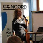 Åsa Thomasson, CONCORD Sverige, leder gruppdiskussionerna