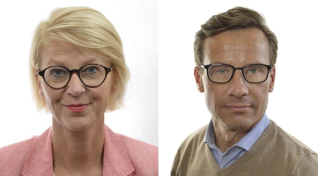 Elisabeth Svantesson, ekonomisk talesperson (M), och Ulf Kristersson, partiledare (M)