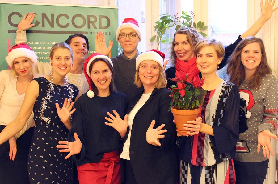 Personal på CONCORD Sveriges kansli önskar god jul