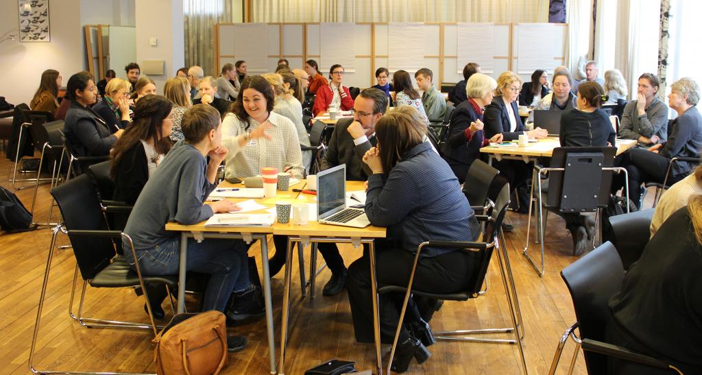 Ett 60-tal medlemmar samlade för att diskutera vårt gemensamma arbete med EU-valet 2019.