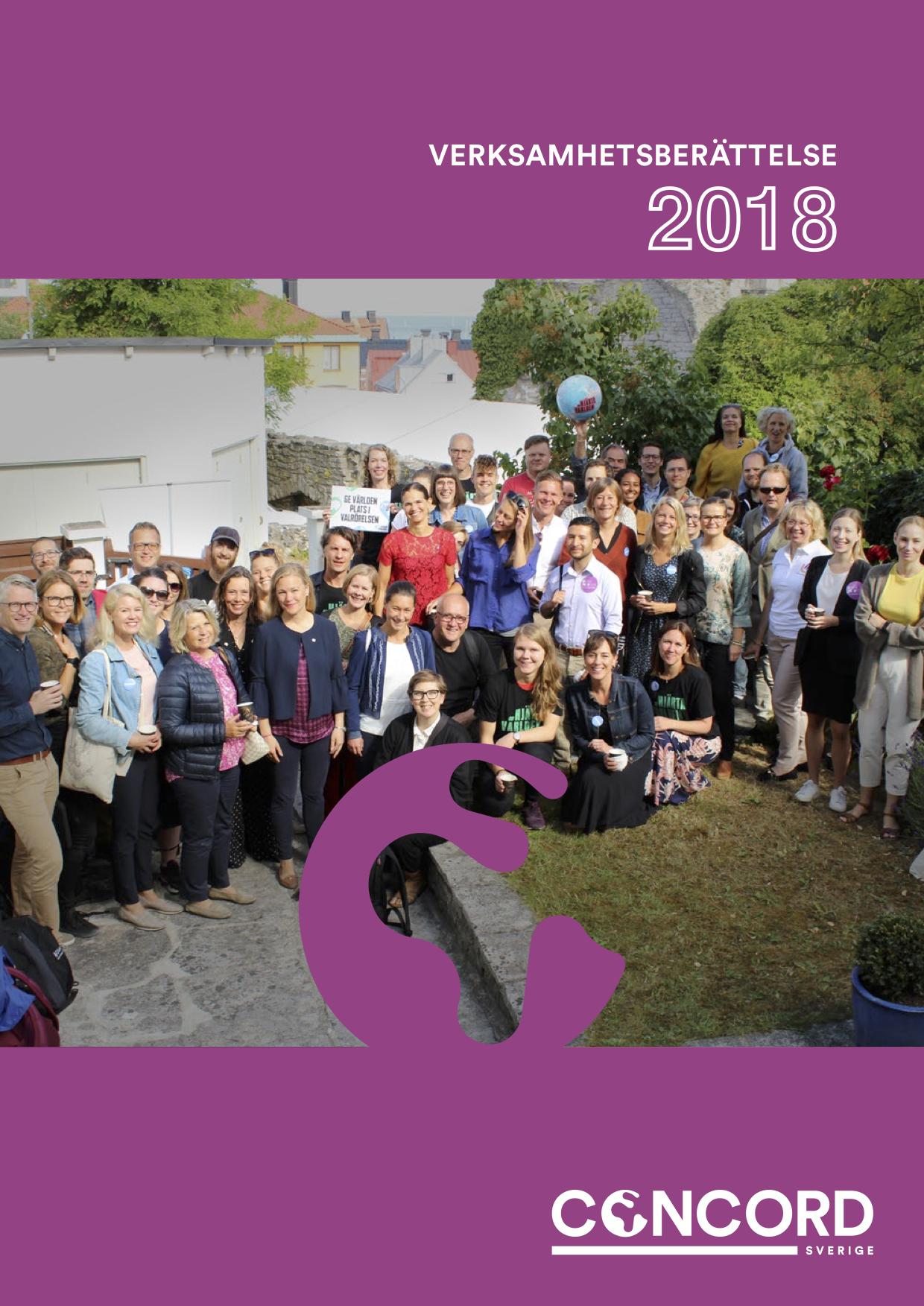 CONCORD Sveriges Verksamhetsberättelse 2018