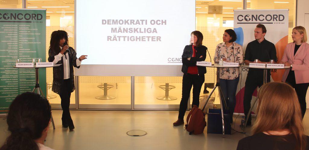 Kandidater till EU-valet debatterar, Malin Björk, Abir Al-Sahlani, Anders Rehnberg, Arba Kokalari