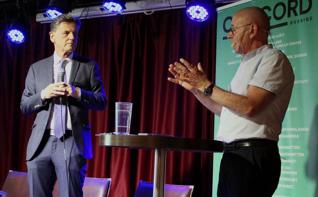 Jonas Björck, Europareporter på TV4 och moderator Willy Silberstein