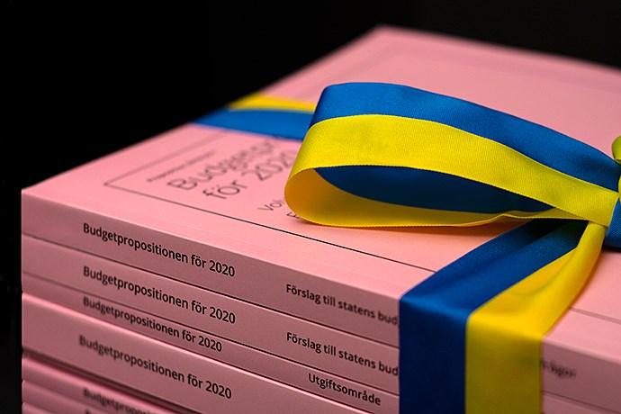 Budgetproposition 2020 Foto Regeringskansliet