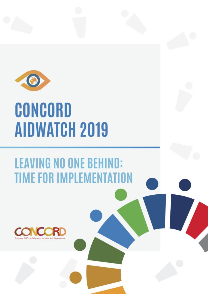 Framsidebild CONCORDs AidWatch-rapport 2019