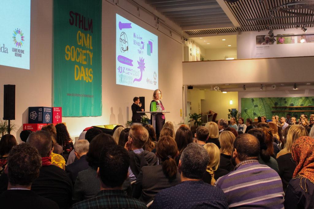 Carin Jämtin på Stockholm Civil Society Days 2019