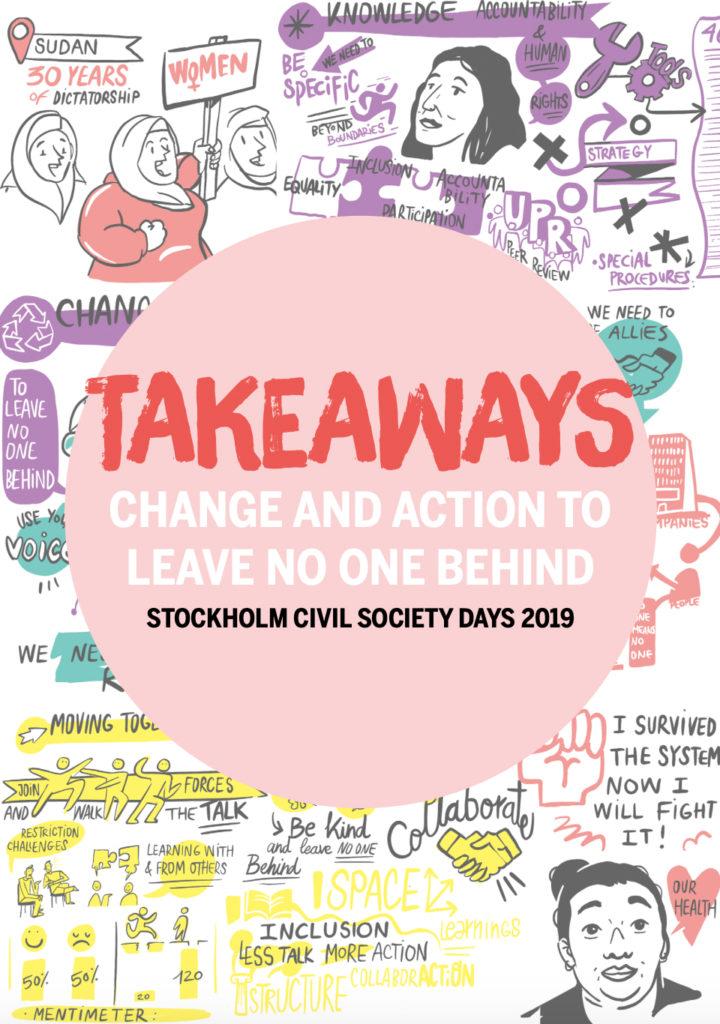 Framsida av slutrapporten från Stockholm Civil Society Days
