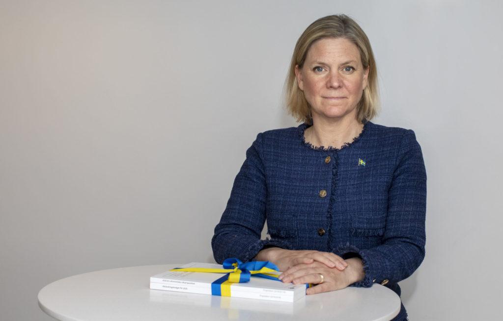 Finansminister Magdalena Andersson (S) med vårändringsbudgeten 2020