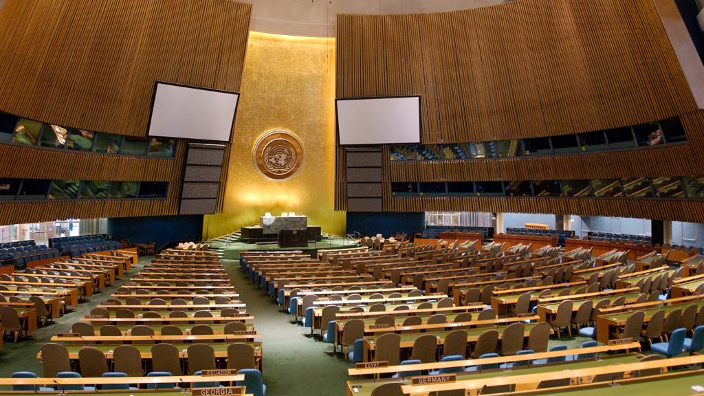 En tom generalförsamling i FN
