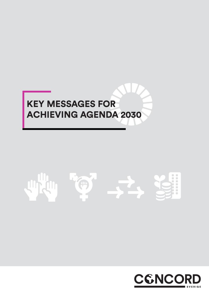 Framsida på rapporten, Agenda 2030 symbol
