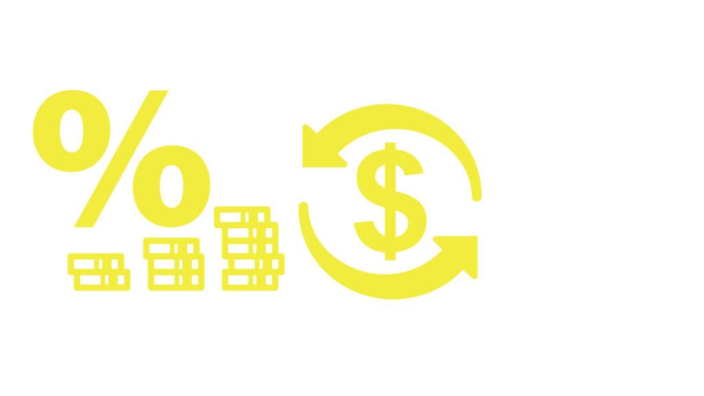 pengastaplar, procenttecken, dollartecken
